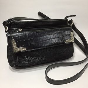 Coldwater Creek Black Western shoulder purse
